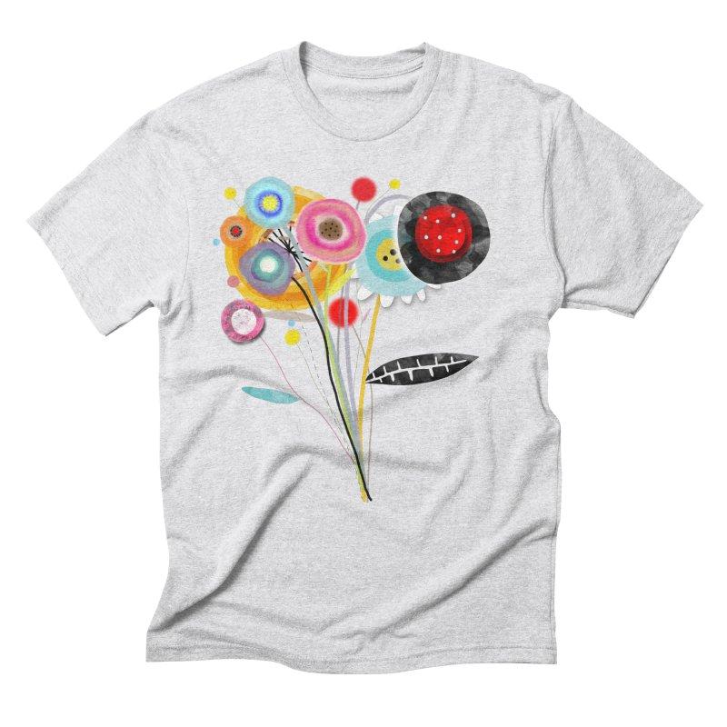 Wedding Bouquet Ranunculus Men's Triblend T-Shirt by rupydetequila's Shop
