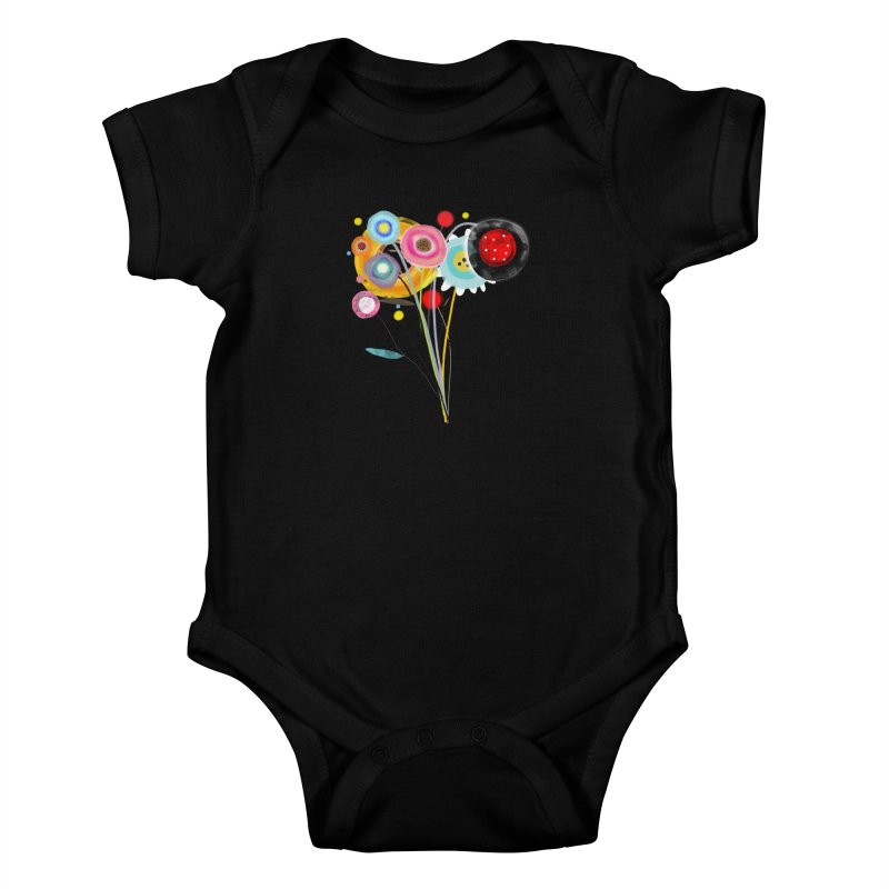 Wedding Bouquet Ranunculus Kids Baby Bodysuit by rupydetequila's Shop