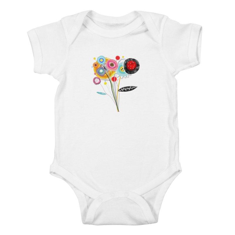 Wedding Bouquet Ranunculus Kids Baby Bodysuit by rupydetequila's Shop