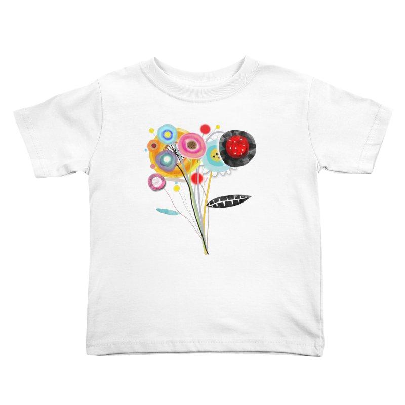 Wedding Bouquet Ranunculus Kids Toddler T-Shirt by rupydetequila's Shop