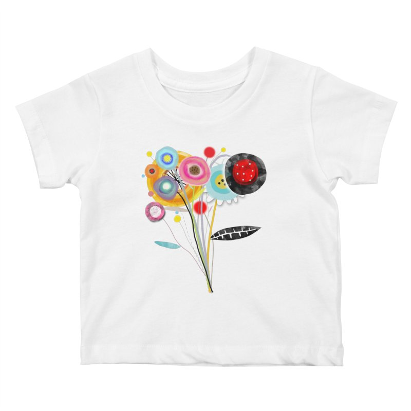 Wedding Bouquet Ranunculus Kids Baby T-Shirt by rupydetequila's Shop