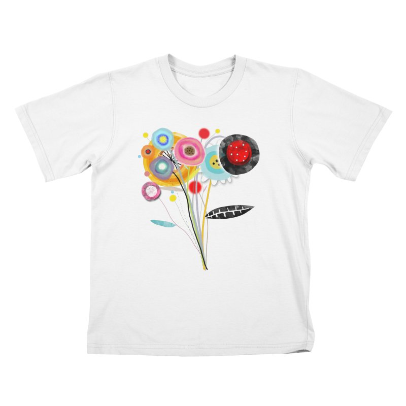 Wedding Bouquet Ranunculus Kids T-Shirt by rupydetequila's Shop
