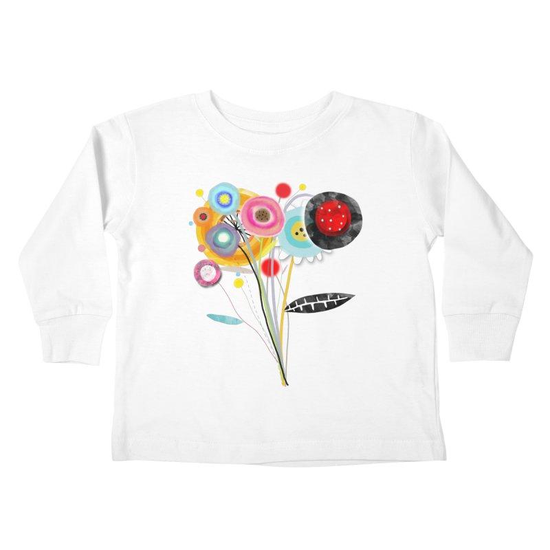 Wedding Bouquet Ranunculus Kids Toddler Longsleeve T-Shirt by rupydetequila's Shop