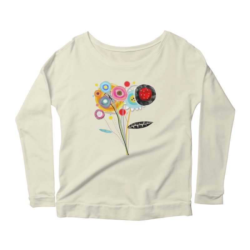 Wedding Bouquet Ranunculus Women's Scoop Neck Longsleeve T-Shirt by rupydetequila's Shop