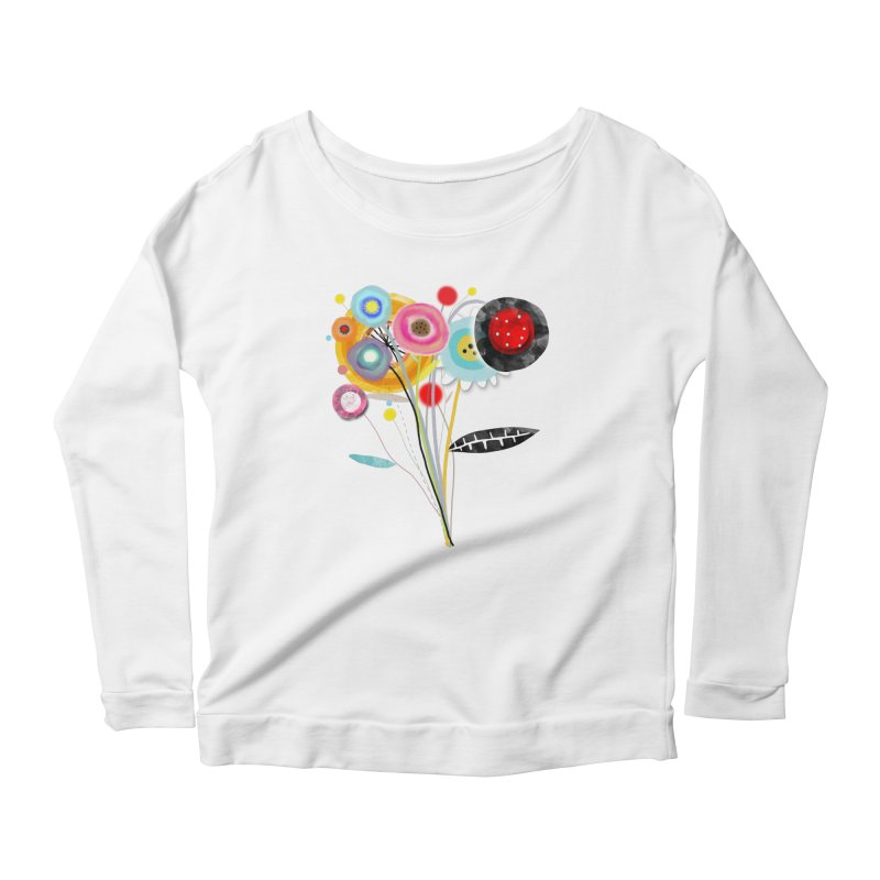 Wedding Bouquet Ranunculus Women's Scoop Neck Longsleeve T-Shirt by rupydetequila's Shop