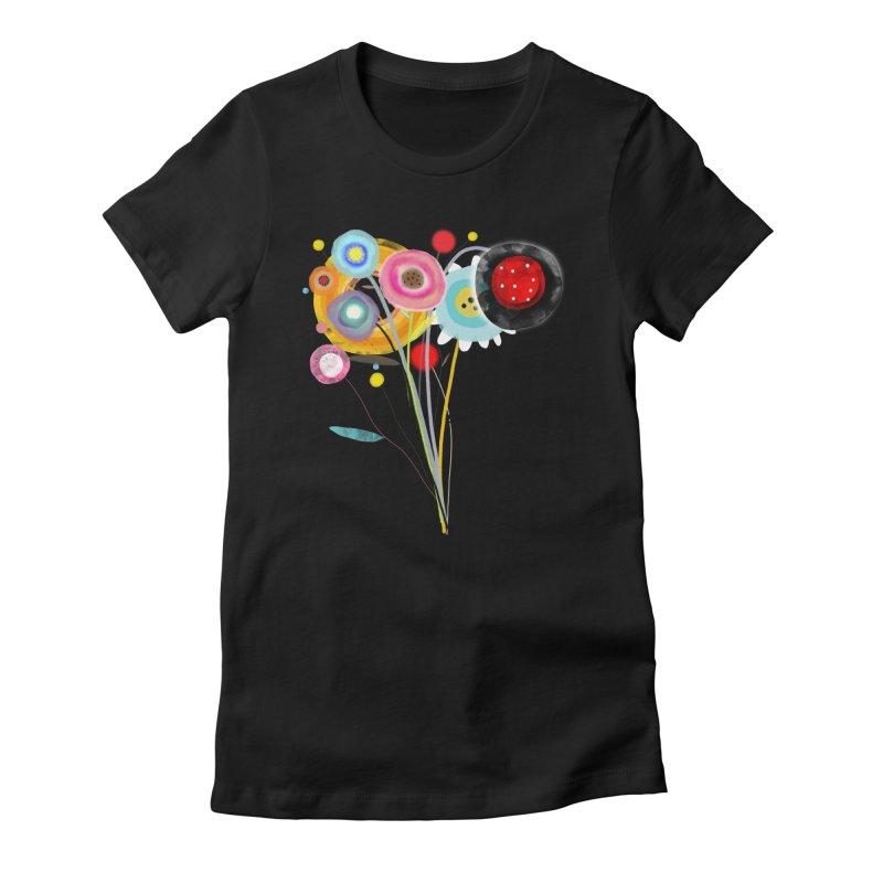 Wedding Bouquet Ranunculus Women's Fitted T-Shirt by rupydetequila's Shop