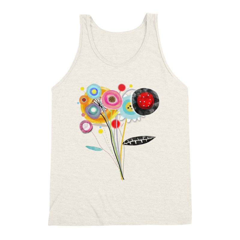 Wedding Bouquet Ranunculus Men's Triblend Tank by rupydetequila's Shop