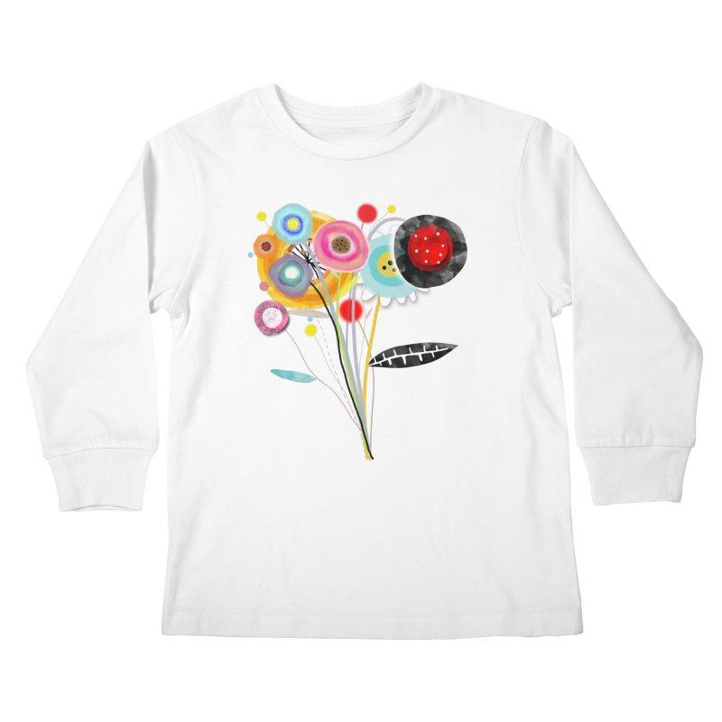 Wedding Bouquet Ranunculus Kids Longsleeve T-Shirt by rupydetequila's Shop