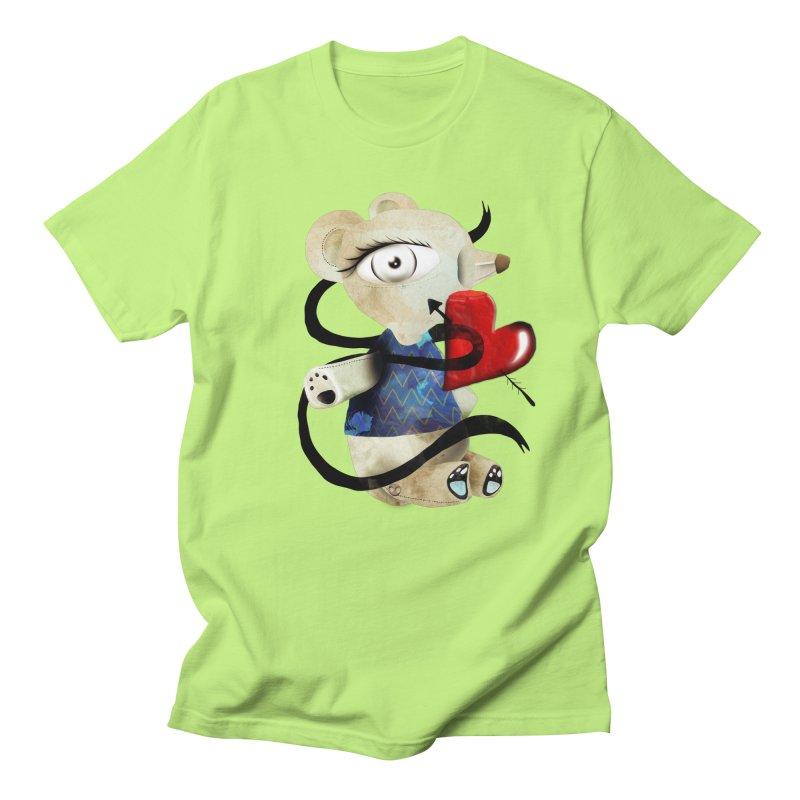 Love Old Teddy Bear Men's Regular T-Shirt by rupydetequila's Shop