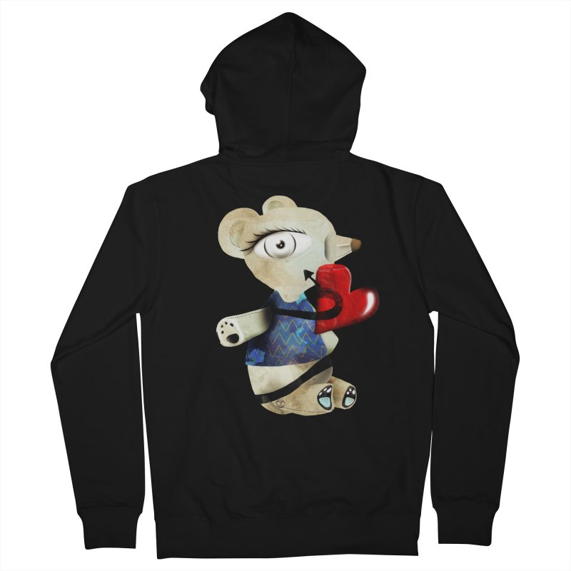 Love Old Teddy Bear Women's French Terry Zip-Up Hoody by rupydetequila's Shop
