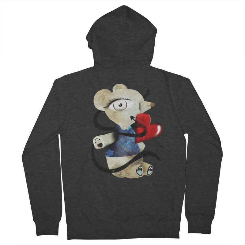 Love Old Teddy Bear Men's French Terry Zip-Up Hoody by rupydetequila's Shop