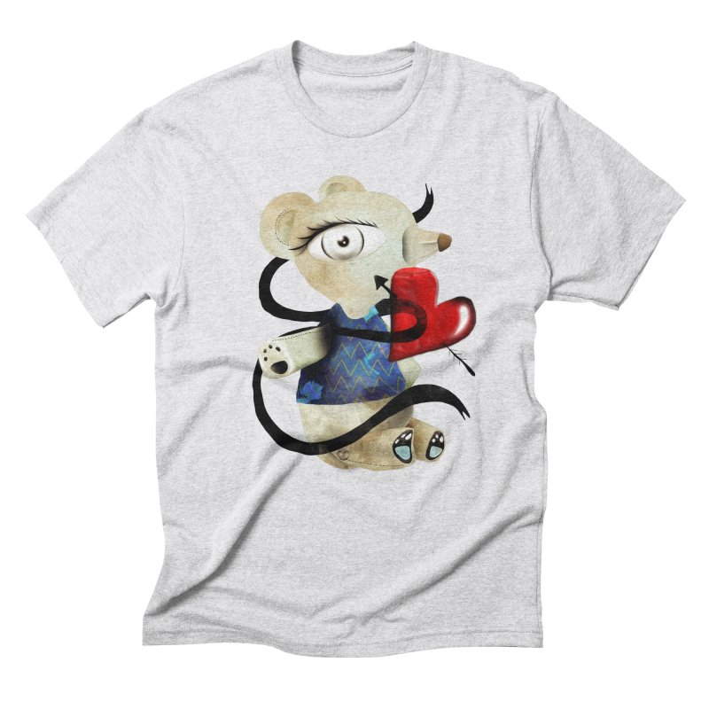 Love Old Teddy Bear Men's Triblend T-Shirt by rupydetequila's Shop