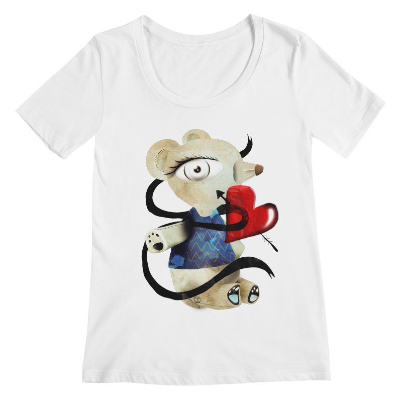 Love Old Teddy Bear Women's Regular Scoop Neck by rupydetequila's Shop