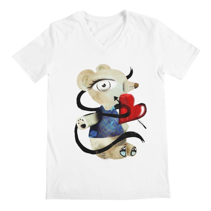 Love Old Teddy Bear Men's Regular V-Neck by rupydetequila's Shop