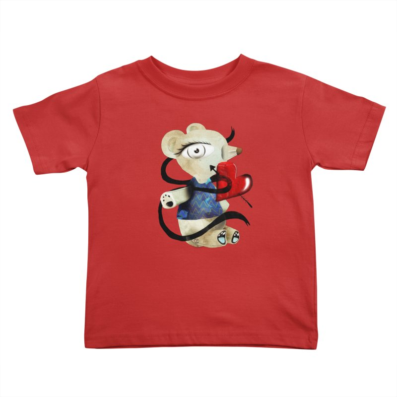 Love Old Teddy Bear Kids Toddler T-Shirt by rupydetequila's Shop