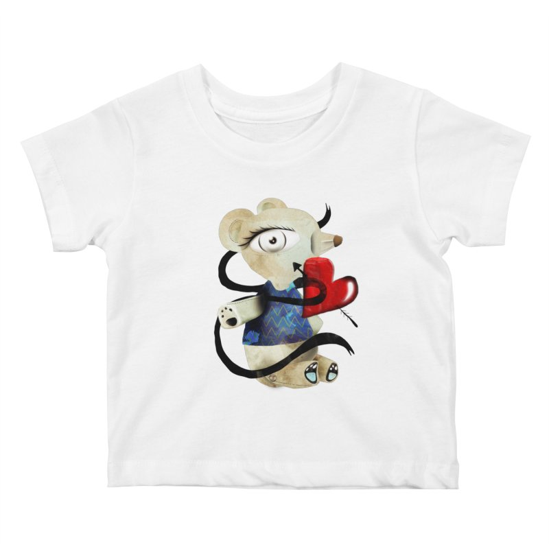 Love Old Teddy Bear Kids Baby T-Shirt by rupydetequila's Shop