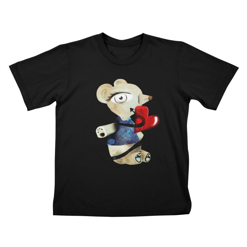Love Old Teddy Bear Kids T-Shirt by rupydetequila's Shop