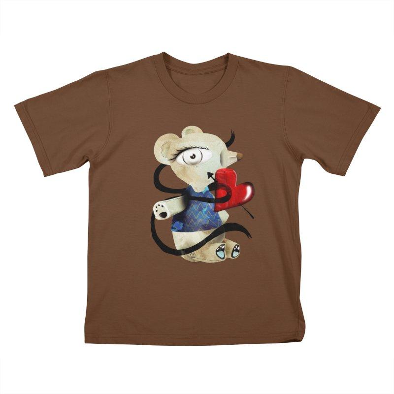 Love Old Teddy Bear Kids T-Shirt by rupydetequila's Shop