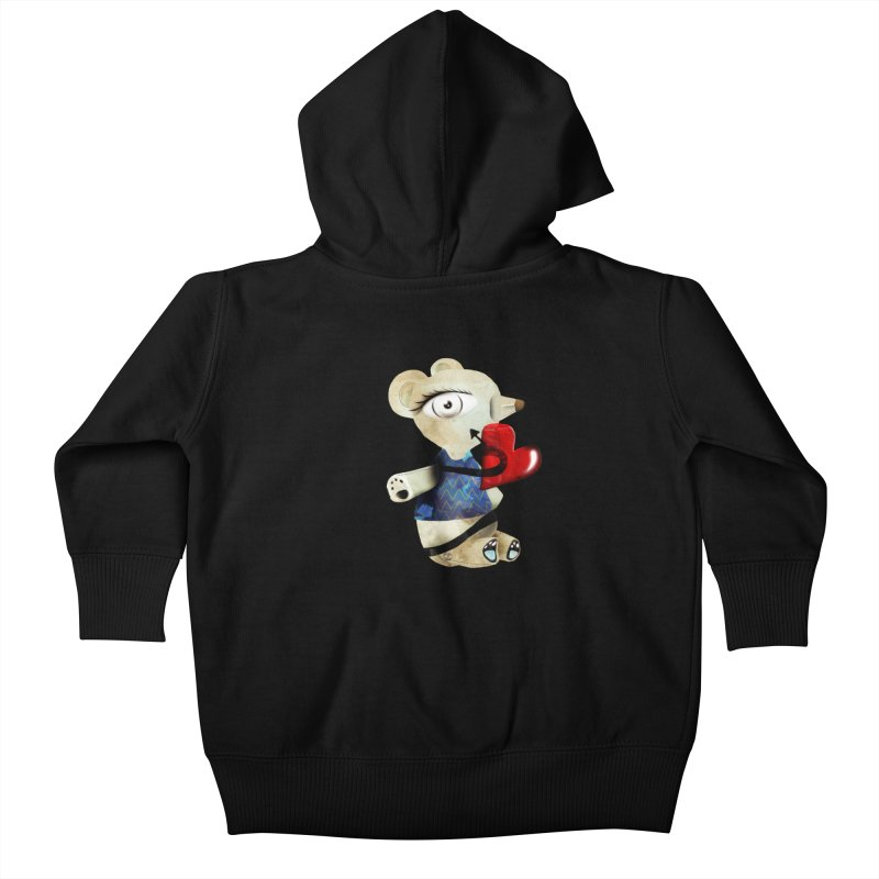 Love Old Teddy Bear Kids Baby Zip-Up Hoody by rupydetequila's Shop