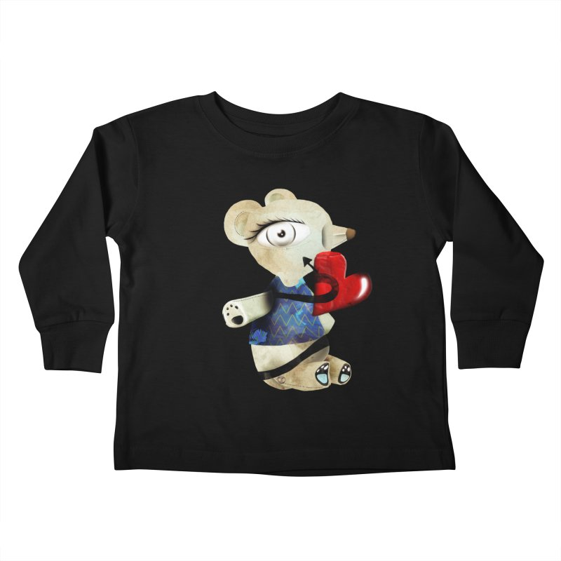Love Old Teddy Bear Kids Toddler Longsleeve T-Shirt by rupydetequila's Shop
