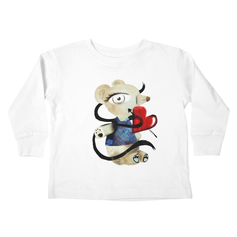Love Old Teddy Bear Kids Toddler Longsleeve T-Shirt by rupydetequila's Shop