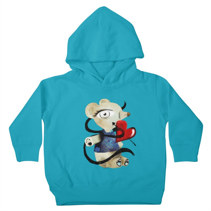 Love Old Teddy Bear Kids Toddler Pullover Hoody by rupydetequila's Shop
