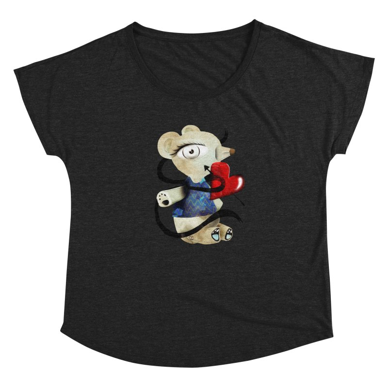 Love Old Teddy Bear Women's Dolman Scoop Neck by rupydetequila's Shop