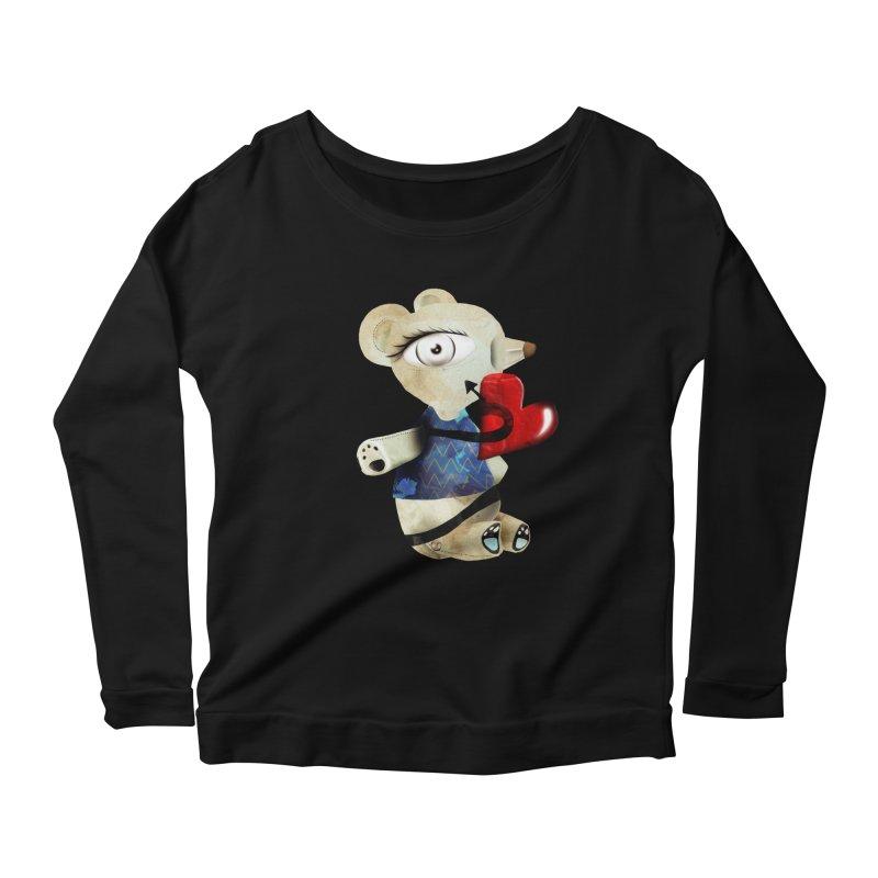 Love Old Teddy Bear Women's Scoop Neck Longsleeve T-Shirt by rupydetequila's Shop