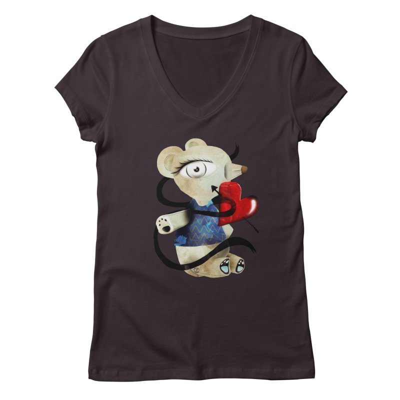 Love Old Teddy Bear Women's Regular V-Neck by rupydetequila's Shop