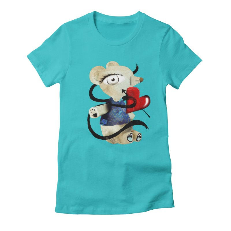 Love Old Teddy Bear Women's Fitted T-Shirt by rupydetequila's Shop