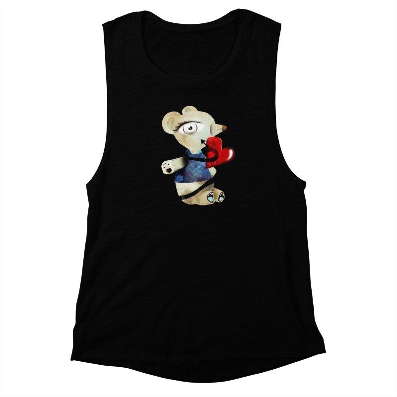 Love Old Teddy Bear Women's Muscle Tank by rupydetequila's Shop