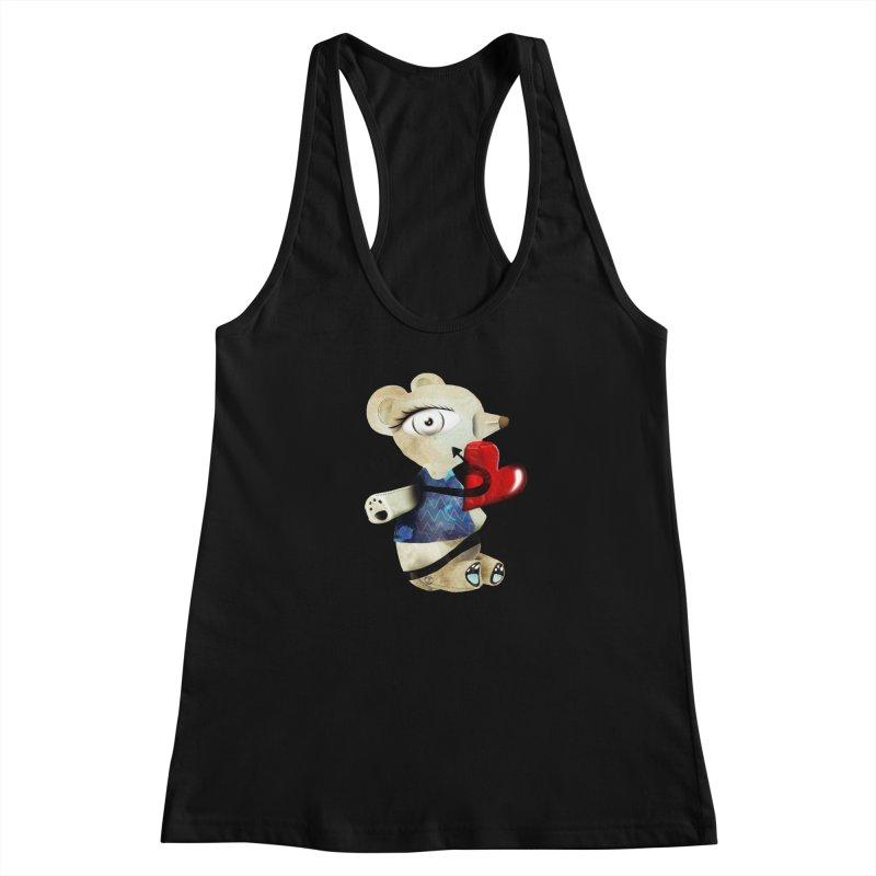 Love Old Teddy Bear Women's Racerback Tank by rupydetequila's Shop