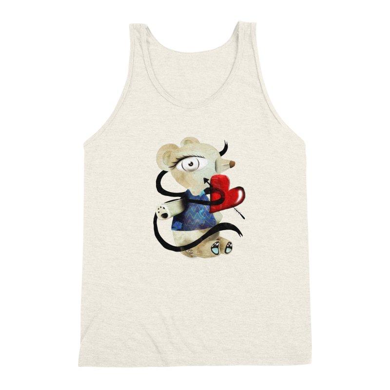 Love Old Teddy Bear Men's Triblend Tank by rupydetequila's Shop
