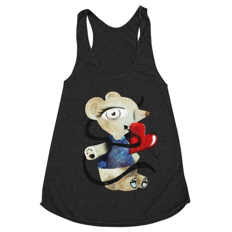 Love Old Teddy Bear Women's Racerback Triblend Tank by rupydetequila's Shop