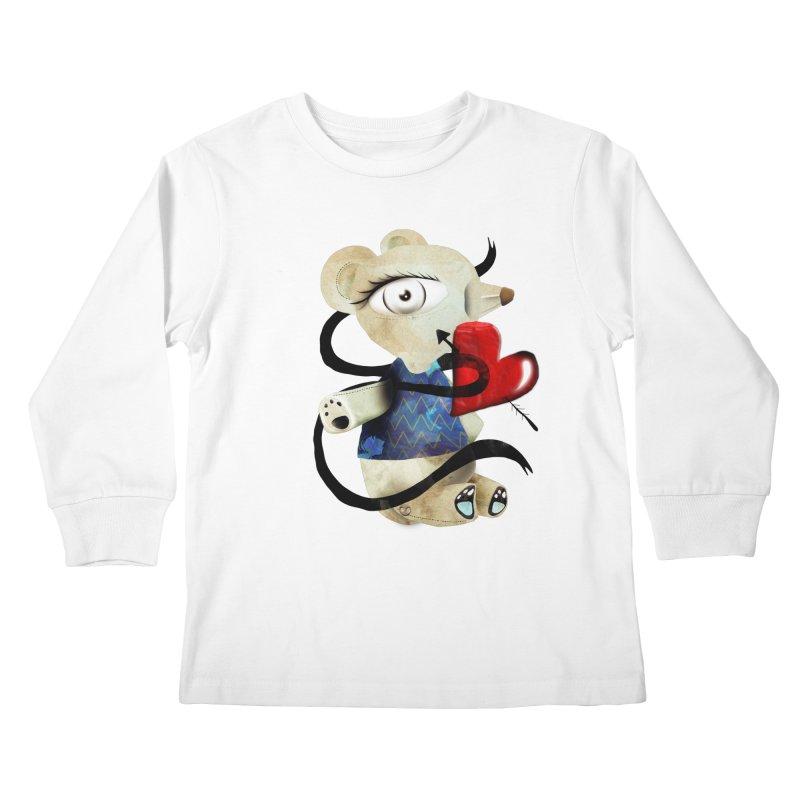Love Old Teddy Bear Kids Longsleeve T-Shirt by rupydetequila's Shop