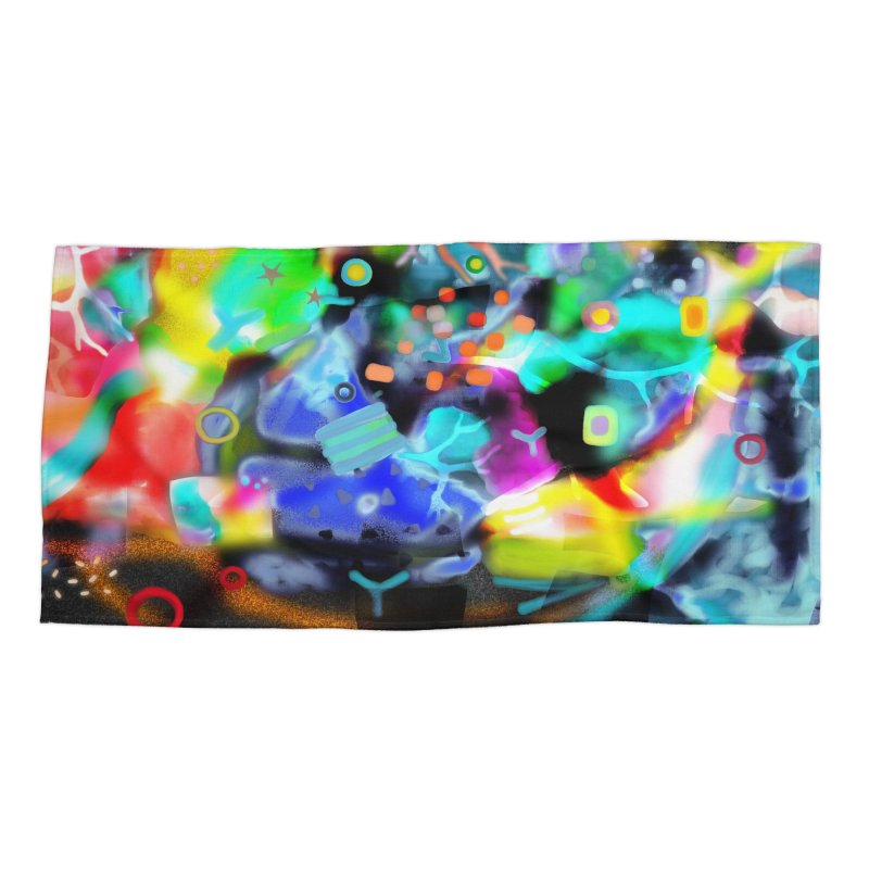 Abstract Ugly Rupydetequila Still Life Accessories Beach Towel by rupydetequila's Shop