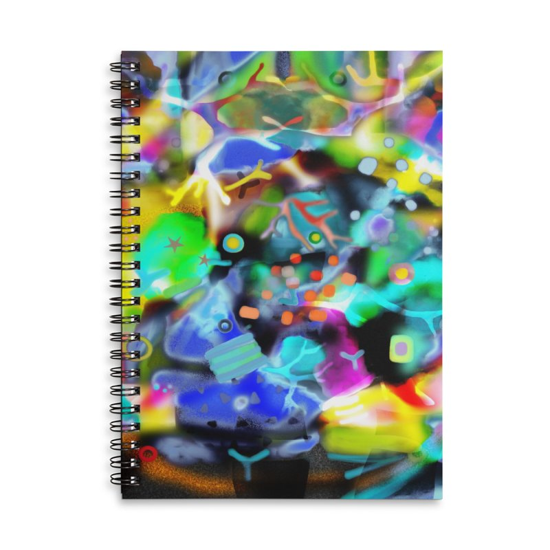 Abstract Ugly Rupydetequila Still Life Accessories Lined Spiral Notebook by rupydetequila's Shop