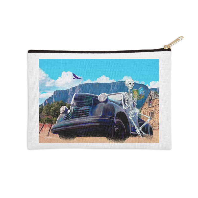 On the Road to Hermit's Peak - Apparel Accessories Zip Pouch by russellthornton's Artist Shop