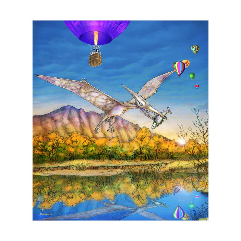 Balloon Fiesta Out of Time - Apparel Accessories Zip Pouch by russellthornton's Artist Shop