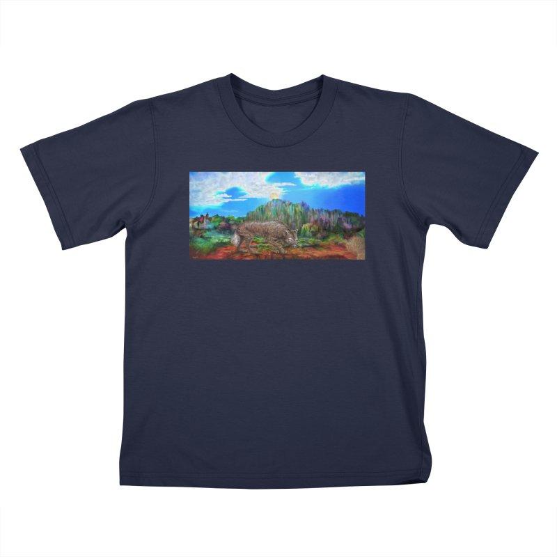 Moonwolf Kids T-Shirt by russellthornton's Artist Shop