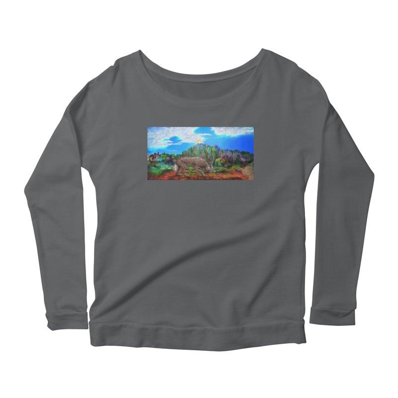 Moonwolf Women's Longsleeve T-Shirt by russellthornton's Artist Shop