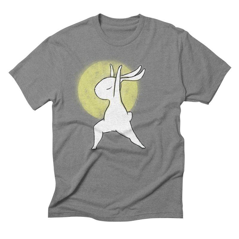 Yoga Bunny Shine Men's T-Shirt by Russodraw's Artist Shop