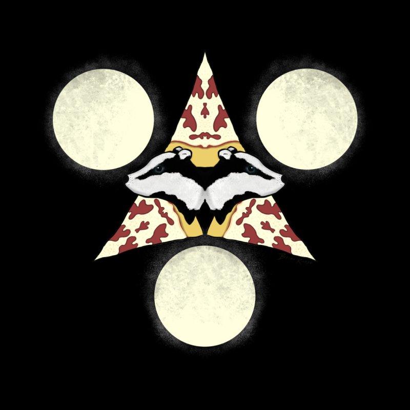 Badger Pizza Moon Men's T-Shirt by Russodraw's Artist Shop