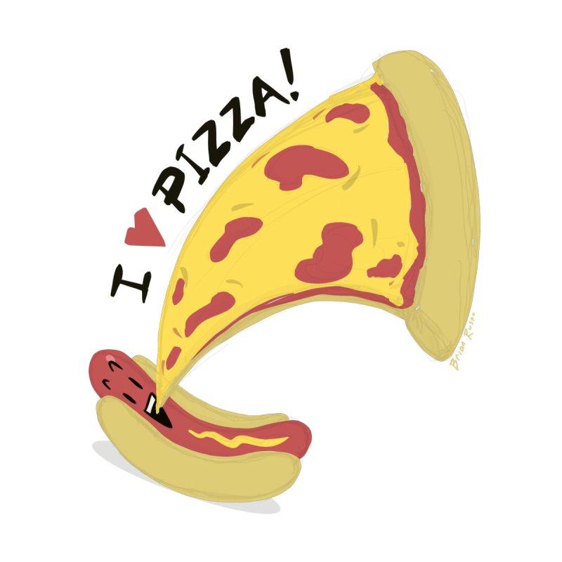 I Love Pizza Men's T-Shirt by Russodraw's Artist Shop