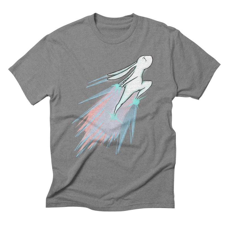Bunny Blast Off! Men's T-Shirt by Russodraw's Artist Shop