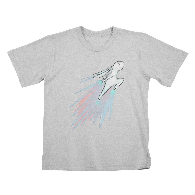 Bunny Blast Off! Kids T-Shirt by Russodraw's Artist Shop