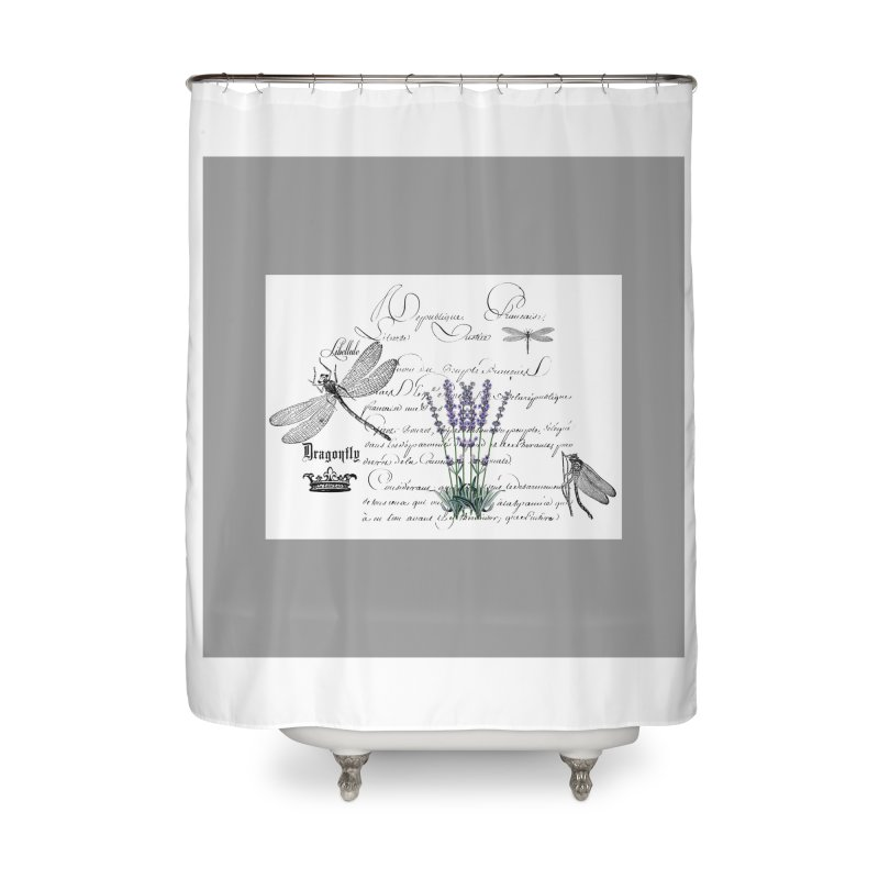 DRAGONFLY Ll FRESH HOT BATH SHOWER CURTAIN