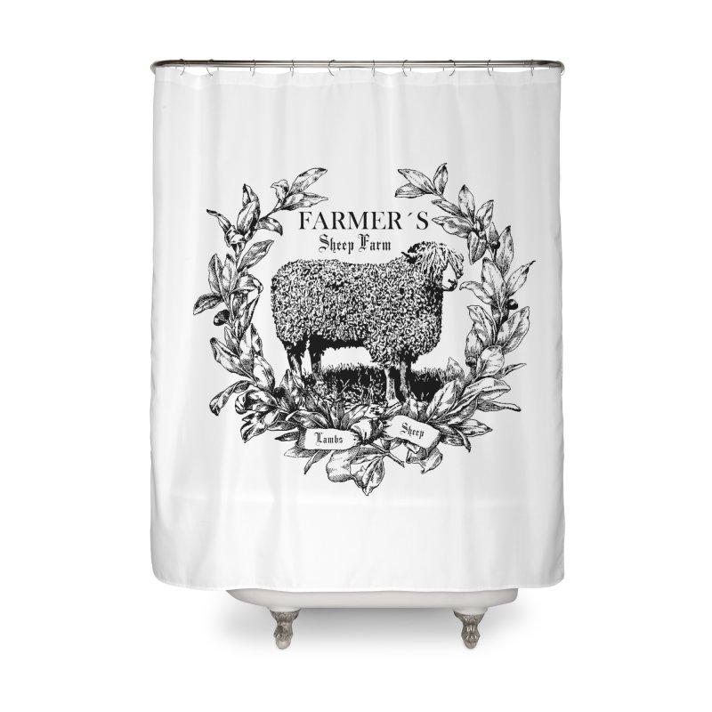 SHEEP FARM SHOWER CURTAIN Home Shower Curtain By RUSTIC CHIQ FARMHOUSE DECOR