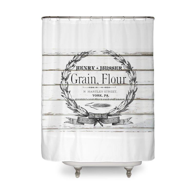 GRAIN FLOUR SACK SHOWER CURTAIN Home Shower Curtain By RUSTIC CHIQ FARMHOUSE DECOR