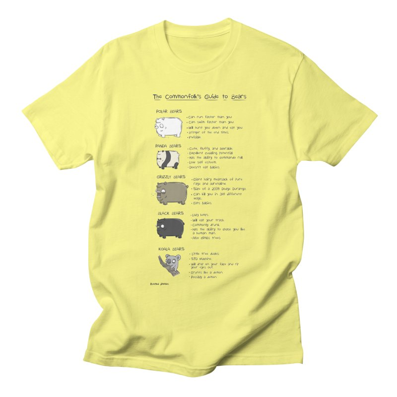 The Commonfolk's Guide to Bears Men's T-Shirt by Rustled Jimmies